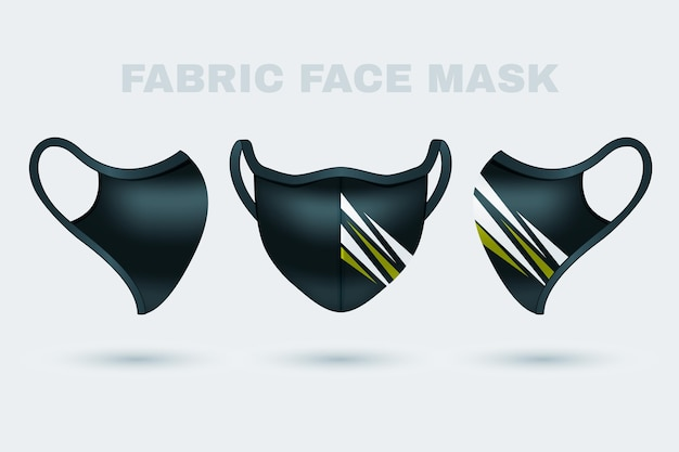 Realistic fabric face mask Free Vector