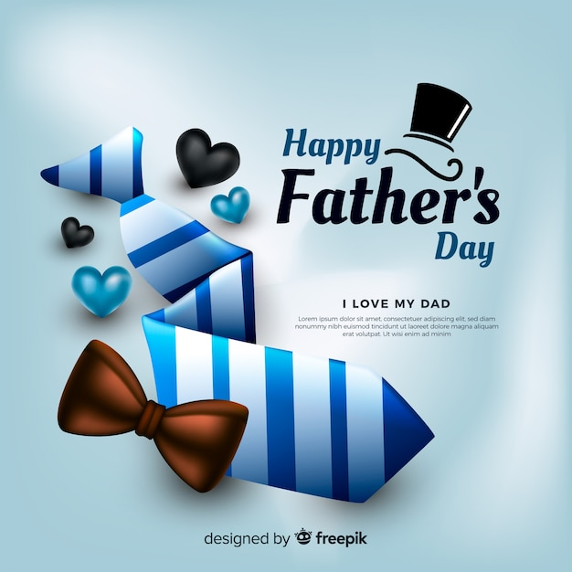 Realistic father's day background Free Vector