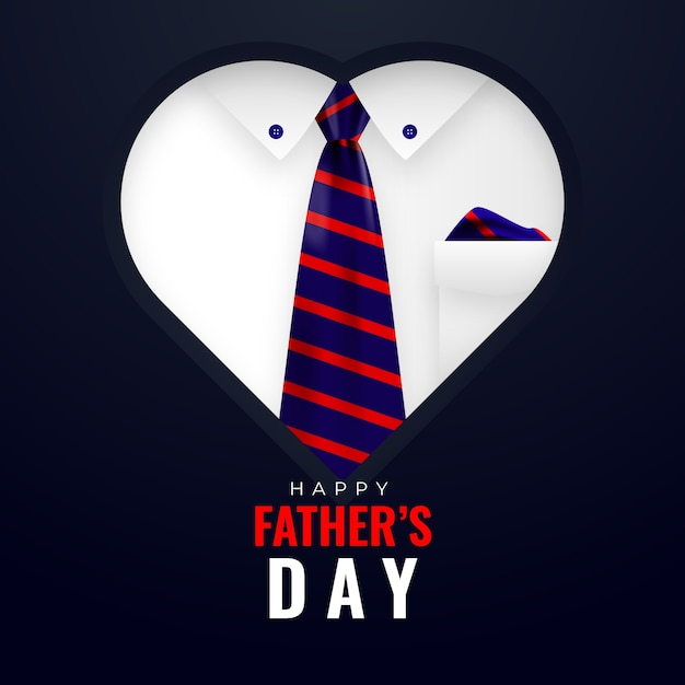 Realistic father's day concept Free Vector