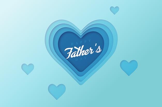 Festa del papà e cuori realistici Vettore gratuito
