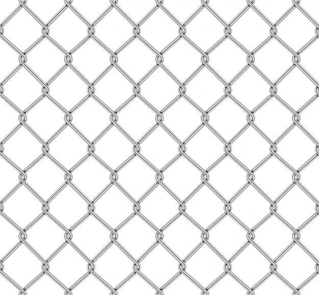 Realistic fence rabitz pattern Premium Vector