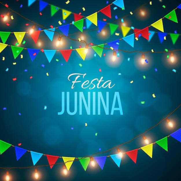 Realistic festa junina concept Free Vector