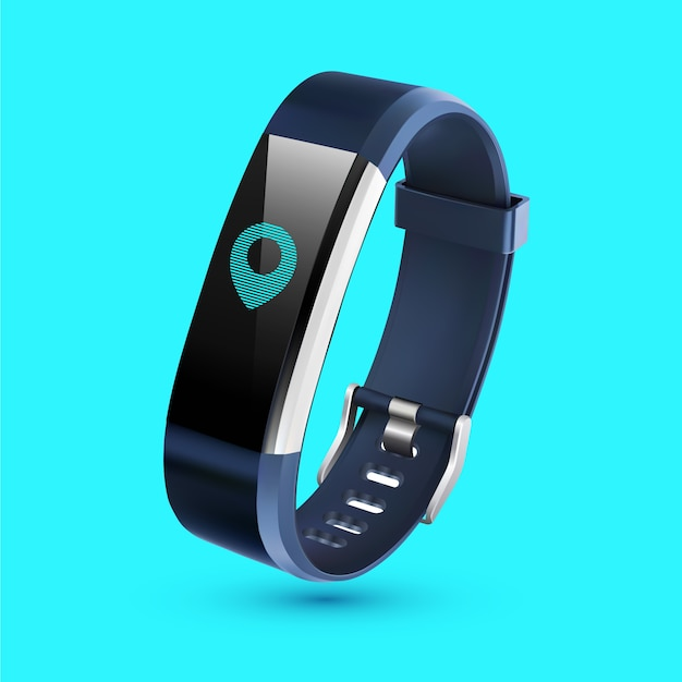 Realistic fitness trackers Free Vector
