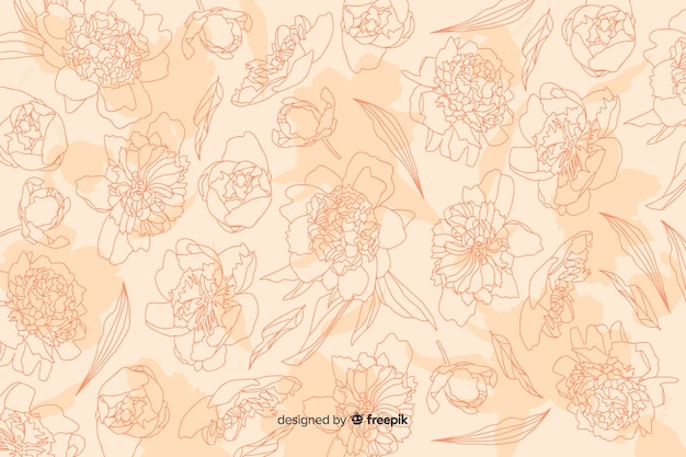 Realistic flower on pastel background Free Vector