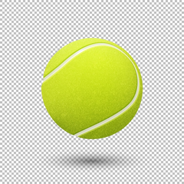Realistic flying tennis ball closeup isolated Premium Vector