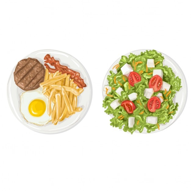 Realistic food Free Vector