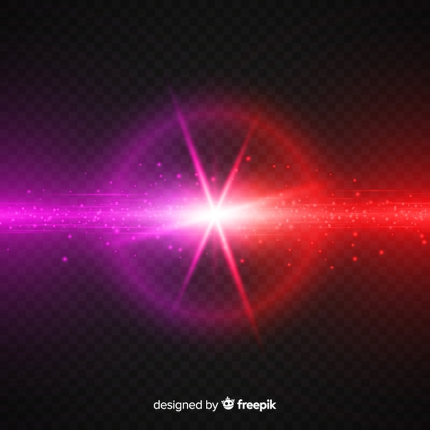 Realistic forces crash light effect Free Vector