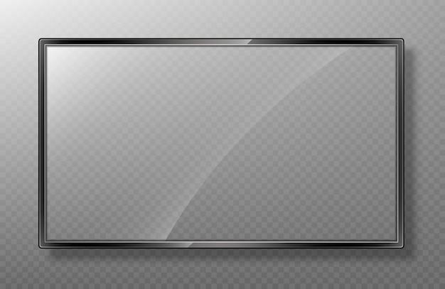 Реалистичная рамка макета экрана телевизора. Premium векторы