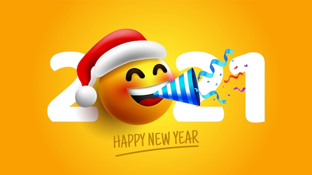Realistic funny new year 2020 background Free Vector