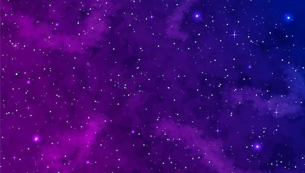 Realistic galaxy background. space exploration Premium Vector