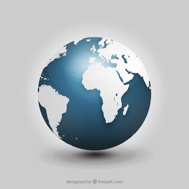 realistic globe vector | free download