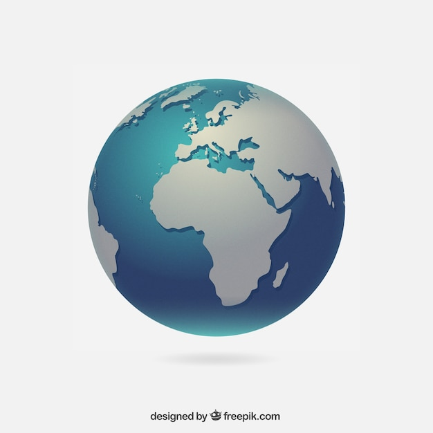 Realistic globe vector free download realistic globe free vector gumiabroncs Choice Image