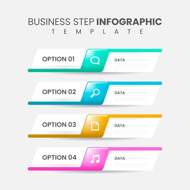 Реалистический шаблон инфографического шаблона Premium векторы