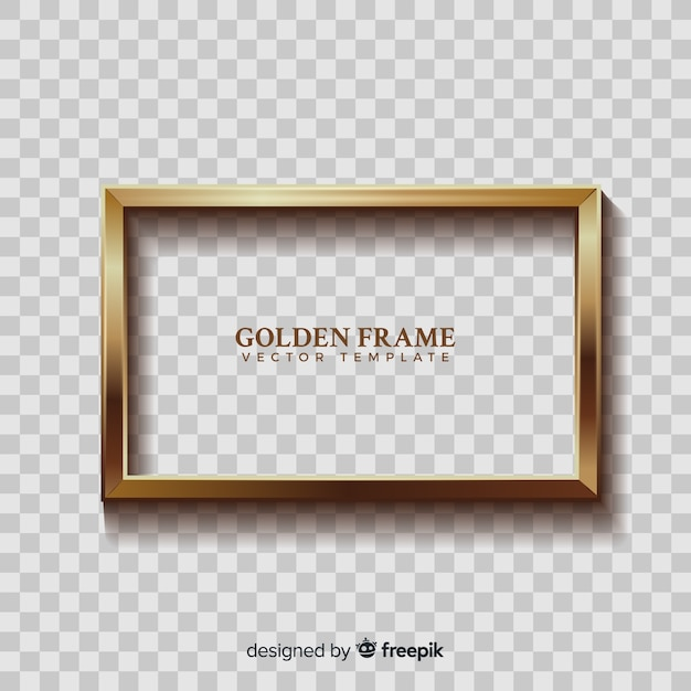 Realistic golden frame Free Vector