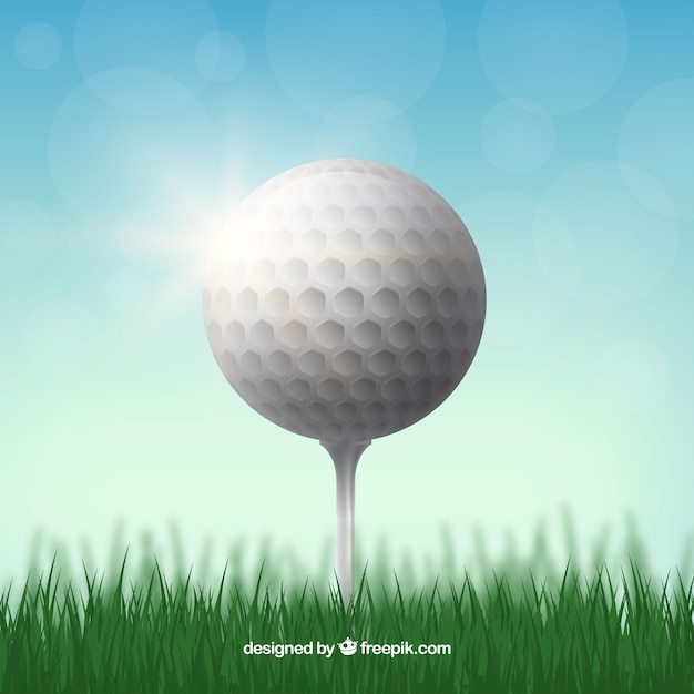 Realistic golf ball design