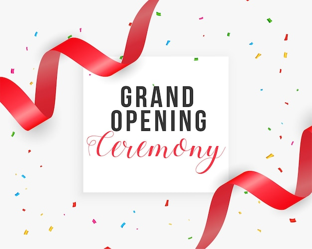 Realistic grand opening ceremony background card Free Vector