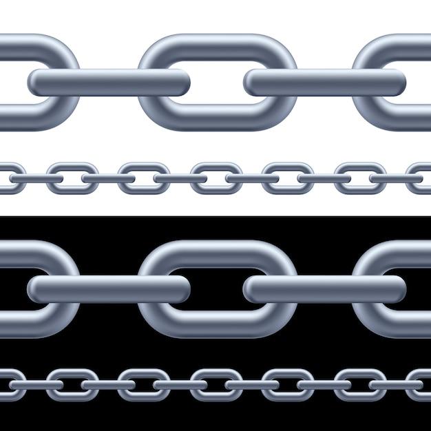 Realistic gray chain Premium Vector