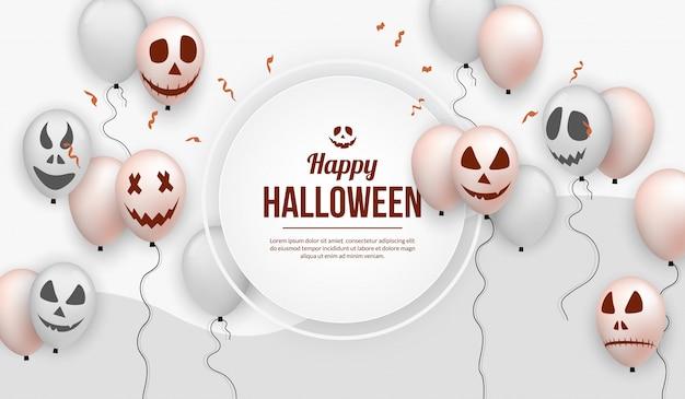 Realistic halloween balloon for party celebration Premium Vector