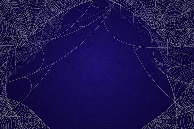 Realistic halloween cobweb background Free Vector