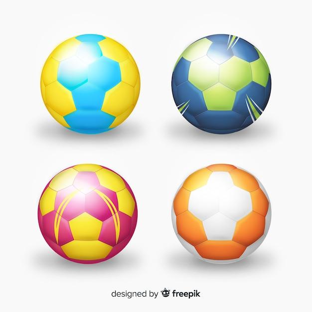 Realistic handball ball set Free Vector