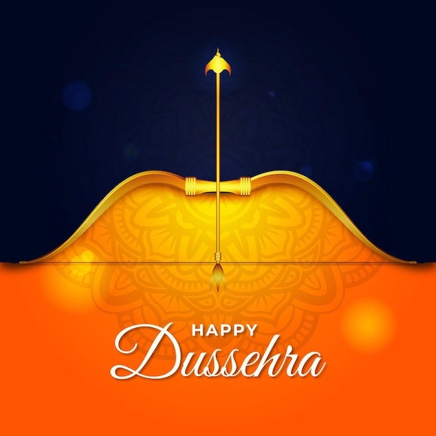 Realistic happy dussehra background Free Vector