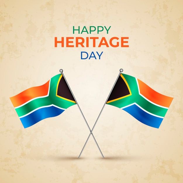 Realistic heritage day south africa Free Vector