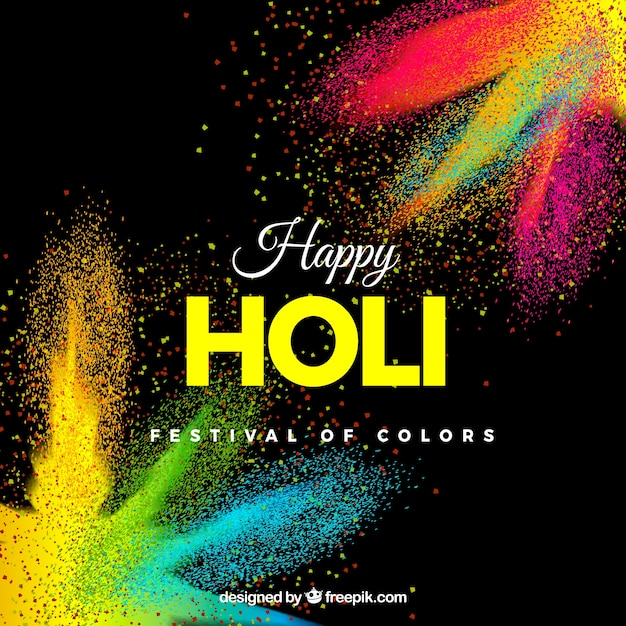 Realistic holi festival background Free Vector