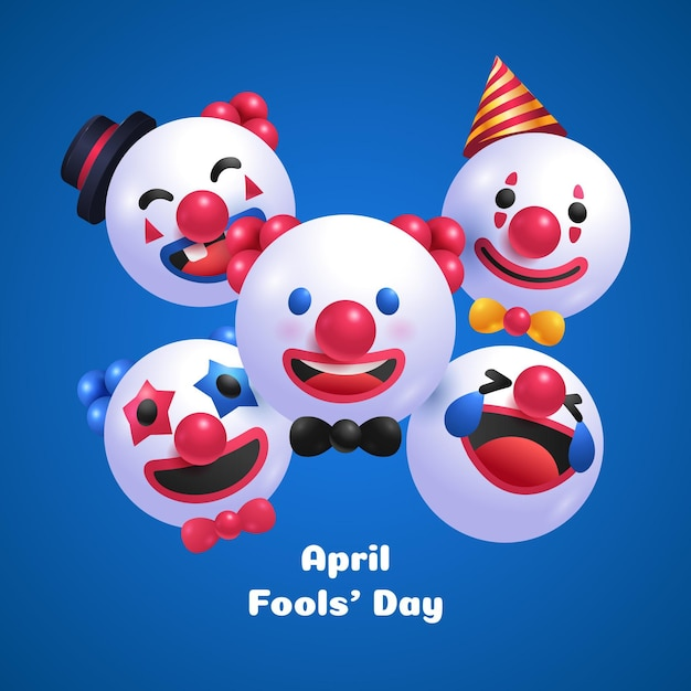 Realistic illustration april fools' day Free Vector