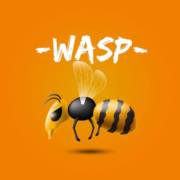 Illustrazione realistica del volo gigante della vespa del killer Vettore gratuito