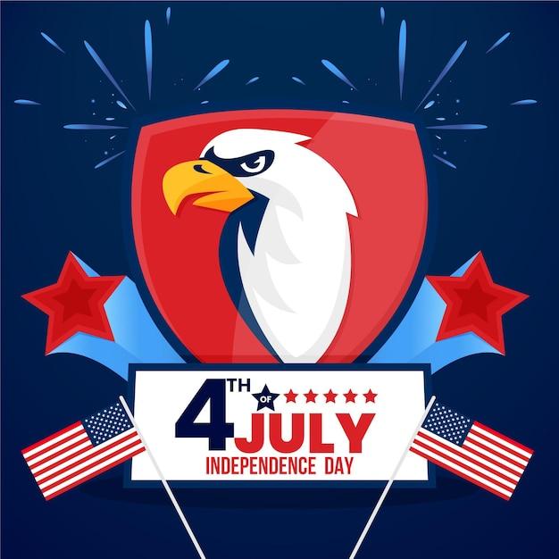 Realistico design per la festa dell'indipendenza Vettore gratuito