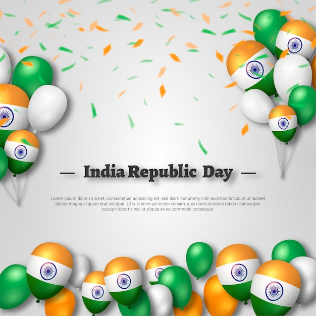 Realistic independence day india illustration Premium Vector