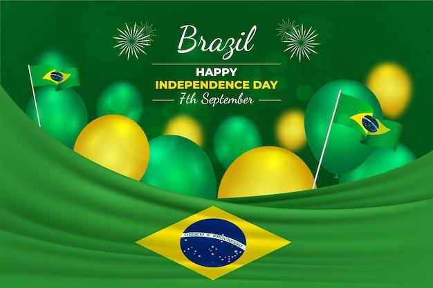 Реалистичный день независимости концепции бразилии Premium векторы