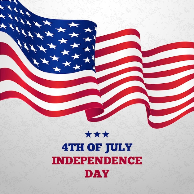 Realistic independence day Premium Vector