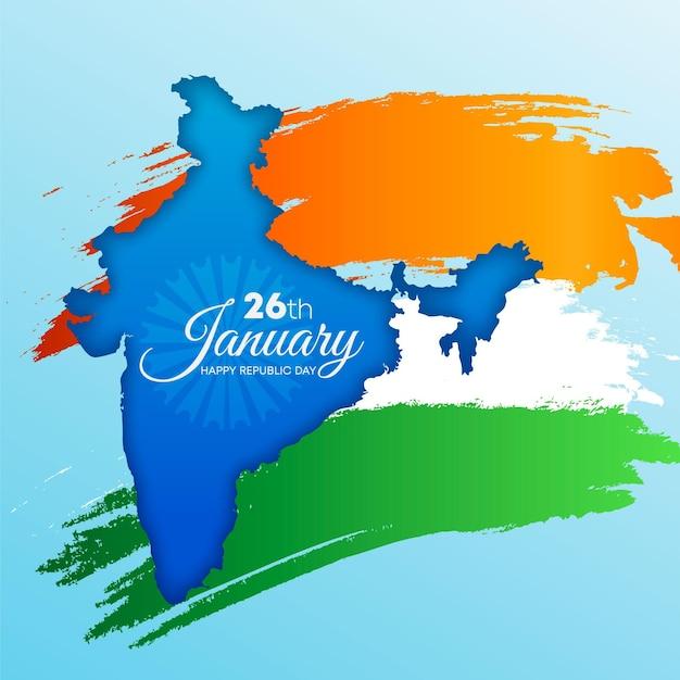 現実的なインド共和国記念日のイラスト 無料ベクター
