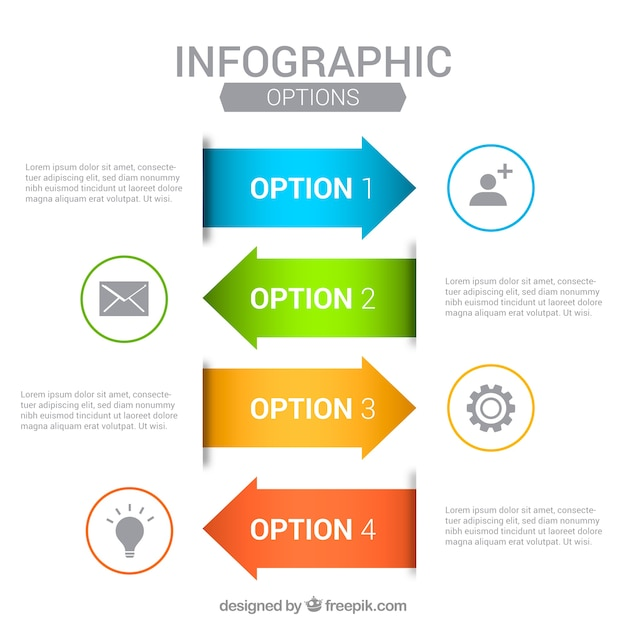 Realistic infographic timeline Free Vector