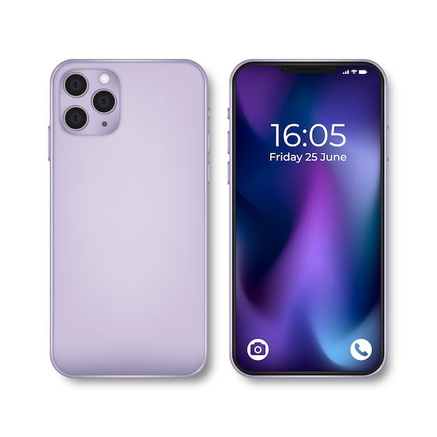Realistic iphone 11 device Free Vector