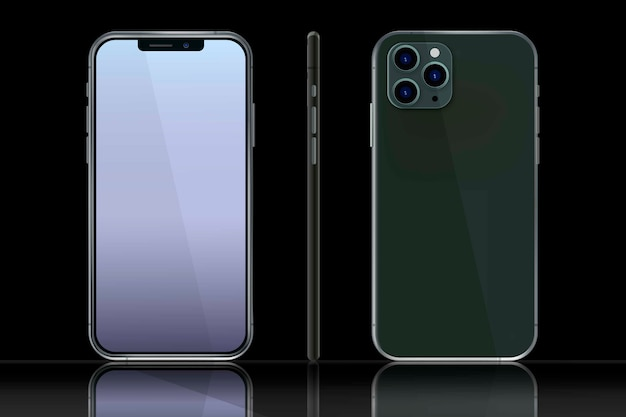 Realistic iphone in different views Free Vector