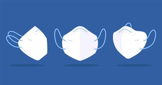 Maschera facciale realistica kn95 Vettore gratuito