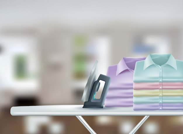 Realistic laundry Premium Vector