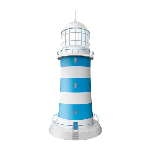 Реалистичный маяк. изолированная иллюстрация. графическая концепция для вашего дизайна Premium векторы