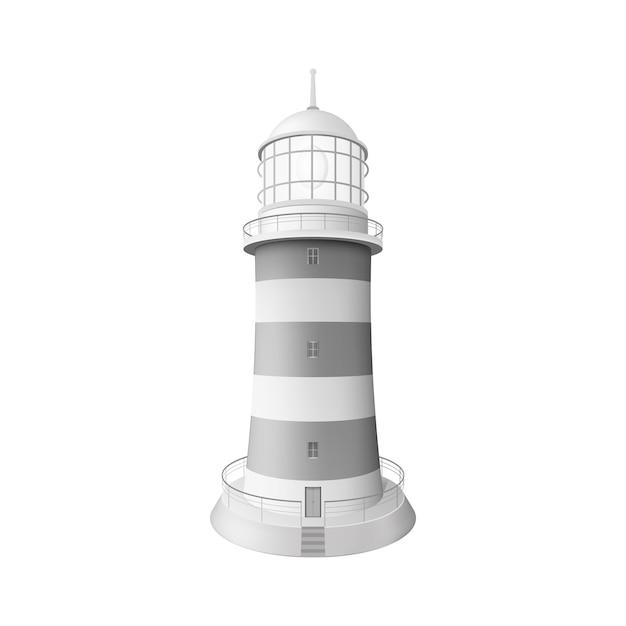 Реалистичная иллюстрация маяка Premium векторы