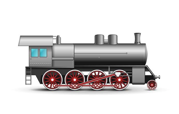 Locomotiva realistica isolata Vettore gratuito