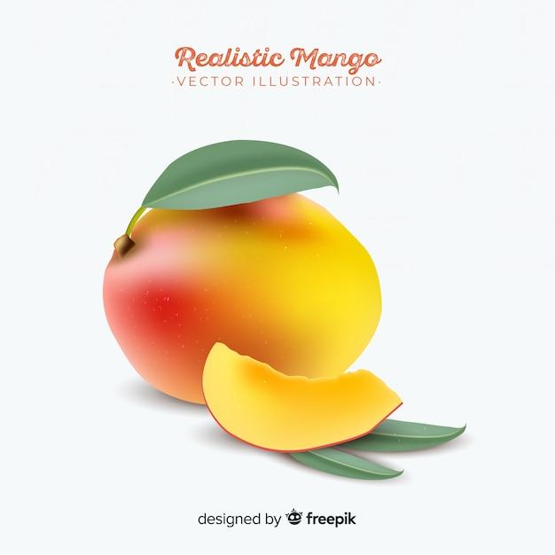 Realistic mango background Free Vector