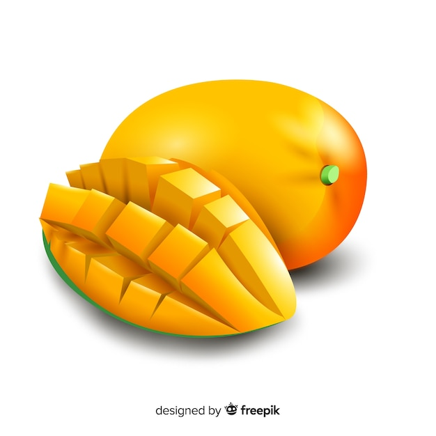 Realistic mango background Free Vector