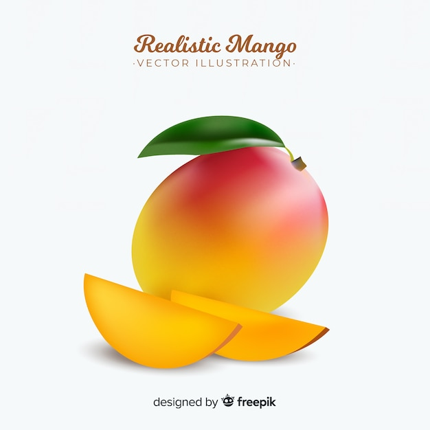 Realistic mango illustration Free Vector