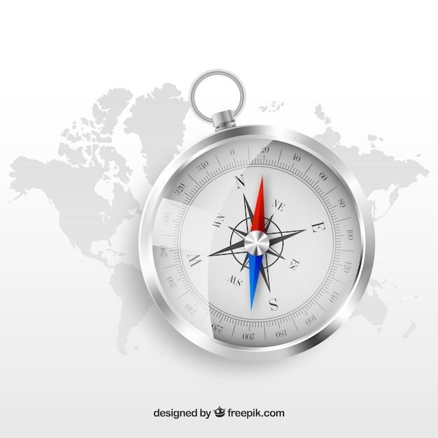Realistic map compass background vector free download realistic map compass background free vector gumiabroncs Images
