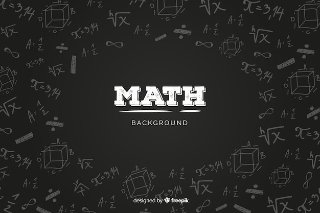 現実的な数学黒板背景 Premiumベクター