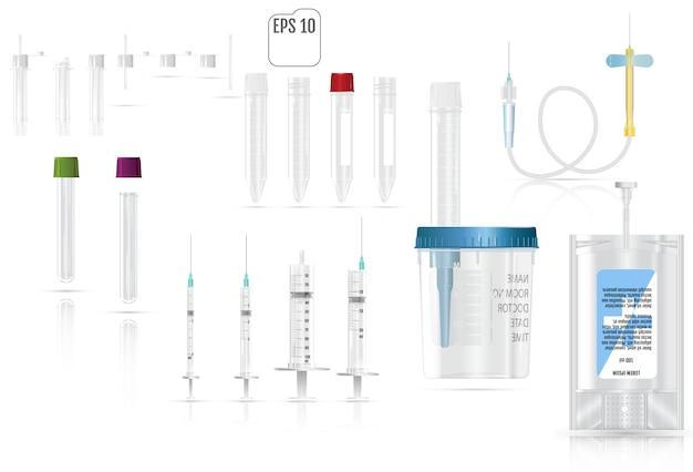 Realistic medical supplies. Premium Vector