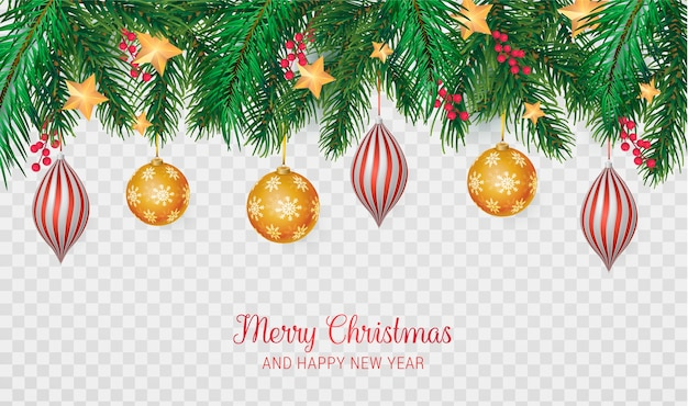 Realistic merry christmas background Free Vector