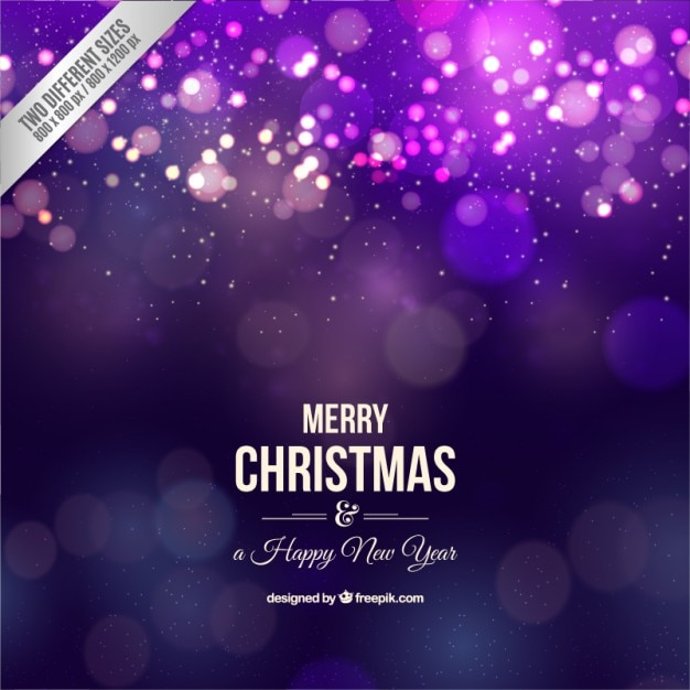 Realistic Merry Christmas Purple Background Vector | Premium Download